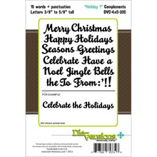 Die-Versions Complements Die, 4-Inch by 6-Inch, Holiday 1 DVC-4X6-206