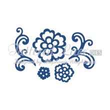 Tattered Lace Dies Floral Flourish & Lace Rose 5-Piece Set, TTLD677