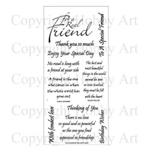 Hobby Art Clear Friends Phrases Sentiments CS043D