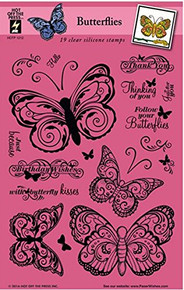 HOTP Clear Stamps - Butterflies - Silicone Stamps HOTP1212