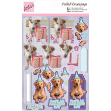 Anita's Foiled & Die-Cut Decoupage 3-D Papier Tole --  Party Pooches 169656 DOGS