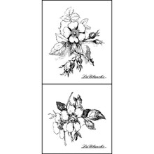 LaBlanche Silicone Stamp, 4.75 by 6.5-Inch, Rosebuds