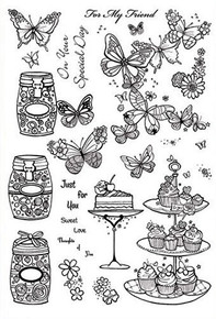 Hunkydory A5 Clearly Stamps Set - Sweet Love