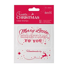 Papermania Create Christmas Mini Clear Stamps 4X4-Merry Christmas
