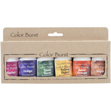 Ken Oliver Crafts Color Burst - 6 pack Earth Tones Concentrated Microfine Pigment Powder