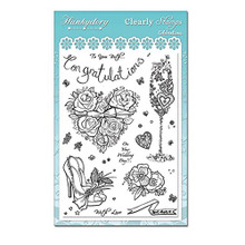 Hunkydory Crafts Clearly Clear Stamps Celebrations