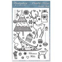 Hunkydory Crafts Clearly Clear Stamps Rudolph's Sleigh
