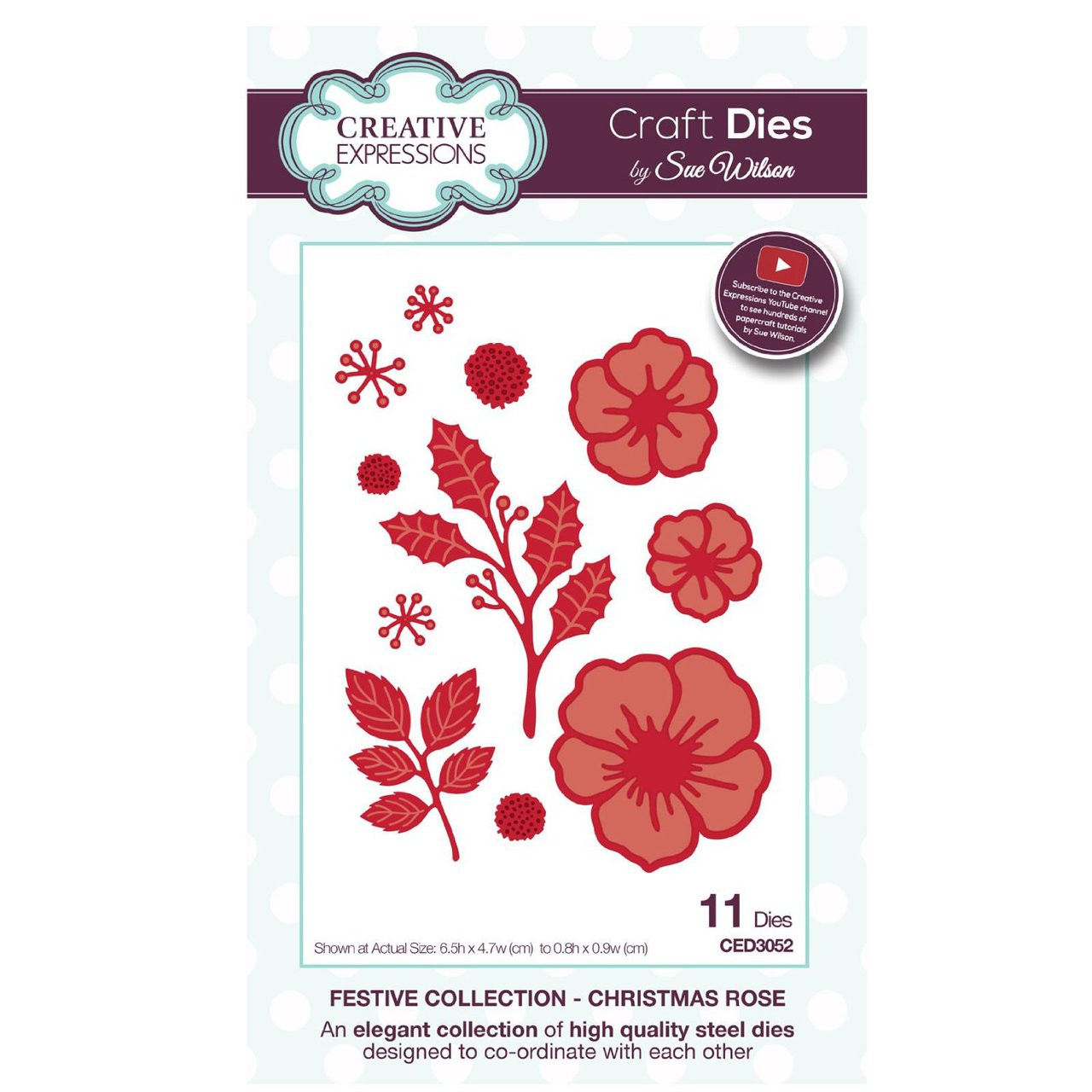 Bold Snowflake Flurry Craft Die CED3076 Sue Wilson Festive Collection