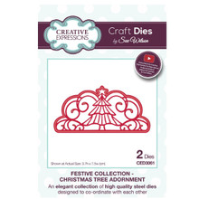 Sue Wilson Festive Collection - Christmas Tree Adornment Craft Die CED3061