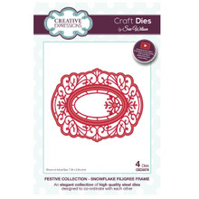 Sue Wilson Festive Collection - Snowflake Filigree Frame Craft Die CED3078
