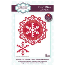 Sue Wilson Festive Collection - Bold Snowflake Frame Craft Die CED3077