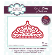 Sue Wilson Festive Collection - Bright Star Adornment Craft Die CED3060