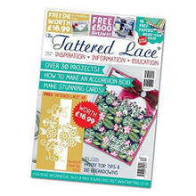 Tattered lace Magazine issue 30 with Blossom over the edge dies by Tattered lace