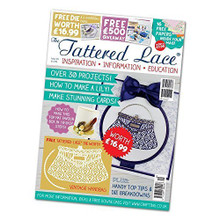 Tattered lace Magazine issue 29 with free vintage handbag die by Tattered lace