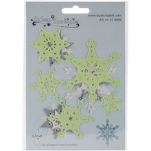 Lea'bilities Cut and Emboss Dies-Snow Crystal, 3-Inch to 1.25-...