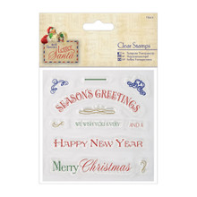 Papermania Letter To Santa Clear Stamps 4'X4'-Greetings