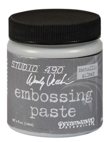 Dreamweaver Metallic Silver Embossing Paste