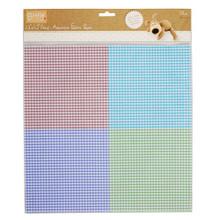 "Self-Adhesive Fabric Paper Gingham 12x12""  - 1 Sheet"