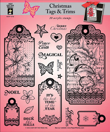 HOTP Christmas Tags & Trims Rubber Stamps 1216 Unmounted