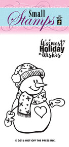HOTP Small Snowman Rubber Stamps 1224 Unmounted