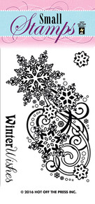 HOTP Small  Snowflakes & Swirls Rubber Stamps 1220 Unmounted
