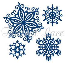 Tattered Lace Frosty Snowflakes Dies - D373