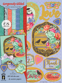 Hot Off The Press Gorgeously Gilded Artful Card Kit 7289
