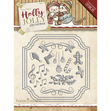 Yvonne Creations Holly Jolly Card set - Christmas Dies YCD10068