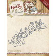 Yvonne Creations Holly Jolly Music Border- Christmas Die YCD10070