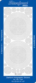 Starform CIRCLES Peel Stickers Transparent Glitter  Silver 1144