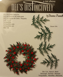 Dee's Distinctively Die Cedar Sprig Sm.