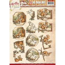 Yvonne Creations Holly Jolly Christmas SNOWMAN 3D Push Out Tole Die Cuts