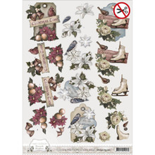 Amy Design Brocante Christmas  3D Push Out Tole Die Cuts  SB10055