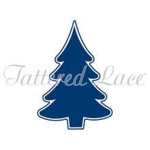 Tattered Lace Gatefold Embossing Folder - Christmas Tree Icon