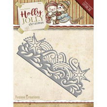Yvonne Creations Holly Jolly Christmas Snowflake Border Cutting Die YCD10069