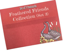 Claritystamp Coloring Postcards -- Feathered Friends Set 3