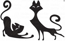 Dee's Distinctively Retro Cats IME-182 Metal Cutting Dies