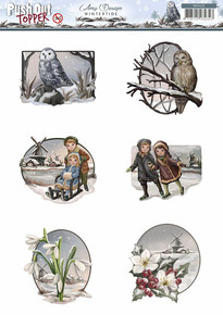 Amy Design Wintertide Push Out TOPPERS Die Cut SB10125