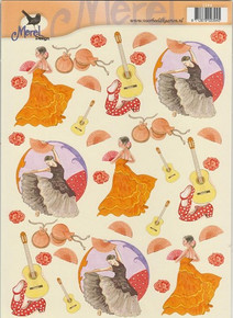 Merel Design Spanish Dancing Scissor-Cut 2394