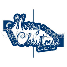 Tattered Lace Ornamental Merry Christmas Cutting Die ETL269