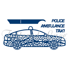 Tattered Lace RETIRED Build a Vehicle 5-Dies Set  D721 Police Taxi Ambulance