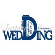 Tattered Lace Monumental Wedding Card Cutting Dies Set ETL178 Includes Card B...