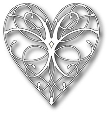 Memory Box La Rue Heart Cutting Die - 98255