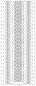 Starform GLITTER SILVER GOLD N7010 BORDERS ASSORTED Stickers Peel Outline