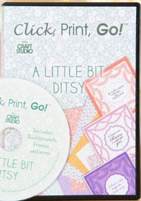 Tattered Lace Click Print & Go! CD A Little Bit Ditsy - My Craft Studio