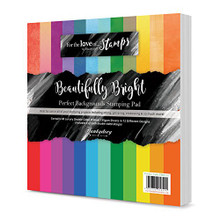 Hunkydory Crafts Perfect Background Stamping Pad Beautifully Bright 8x8 Paper...