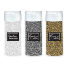 Couture Creations Be Merry and Classic Glitter Assortment Silver, Clear IRR, Champaigne-Gold