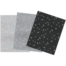 Couture Creations Specialty Foiled Stars on Pearlized Papers 6-Luxury A4 Sheets