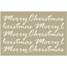 Couture Creations Be Merry Stencil 4'X6'-Merry Christmas Script
