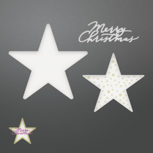 Couture Creations Be Merry Die-Merry Layered Stars, .6' To 2.4'